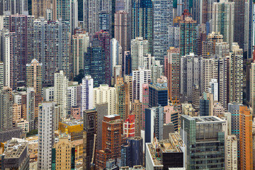 Foto op Aluminium Hong-Kong Hong Kong. Dense residential building in Hong Kong.