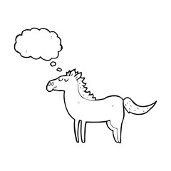 thought bubble cartoon horse