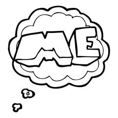 thought bubble cartoon ME symbol
