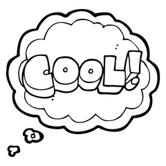cool thought bubble cartoon symbol