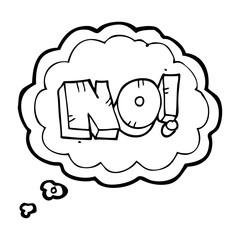 thought bubble cartoon NO! shout