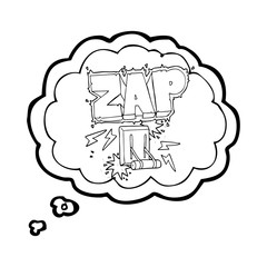 thought bubble cartoon electrical switch zapping