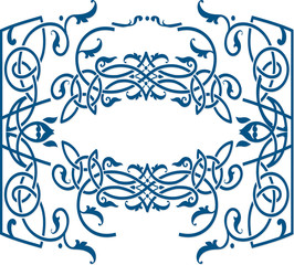 Celtic ornament style frame template.