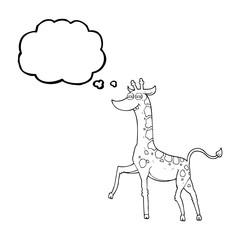 thought bubble cartoon giraffe