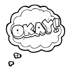 thought bubble cartoon okay symbol