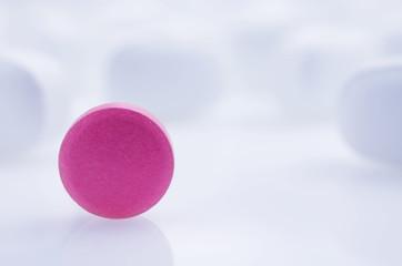Medicine pink pill
