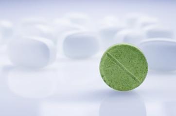 Medicine green pill