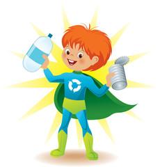 Recycling super hero