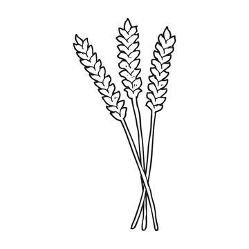 black and white cartoon wheat