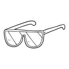 black and white cartoon spectacles