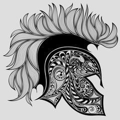Abstract vector helmet of Achilles
