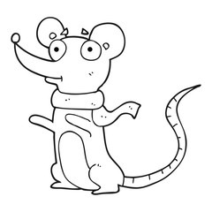 black and white cartoon mouse
