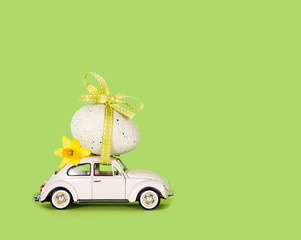 Small car with a big easter egg