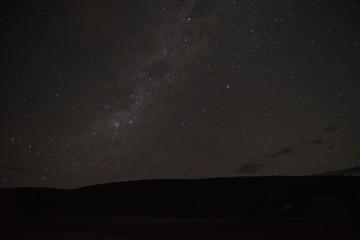 Cielo estrellado con vía láctea, Nueva Zelanda