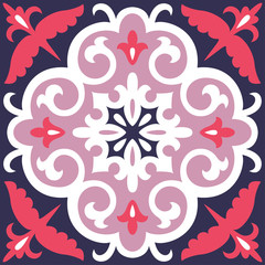 Beautiful ornamental tile background.