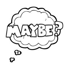 maybe black and white cartoon symbol