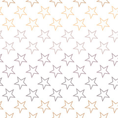 Seamless Abstract Colorful Stars Pattern