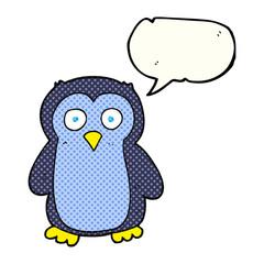 comic book speech bubble cartoon penguin
