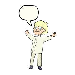 comic book speech bubble cartoon chef