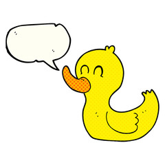 comic book speech bubble cartoon cute duck