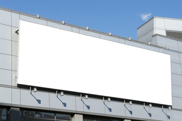 A large blank urban billboard with copy space  Wall mural
