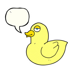 comic book speech bubble cartoon duck
