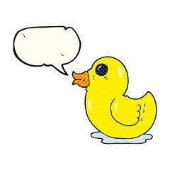 comic book speech bubble cartoon rubber duck
