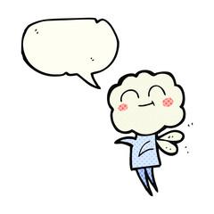 comic book speech bubble cartoon cute cloud head imp