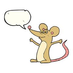 comic book speech bubble cartoon mouse