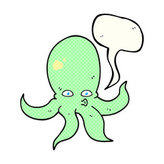 comic book speech bubble cartoon octopus