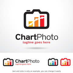 Chart Photo Logo Template Design Vector