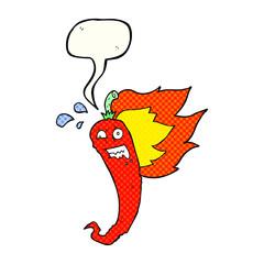 hot chilli pepper comic book speech bubble cartoon