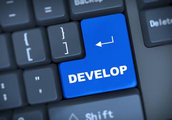 3d keyboard text develop