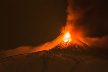 Etna sopra la città Fototapete