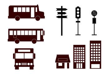 イラスト素材「バス」