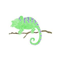 retro cartoon chameleon