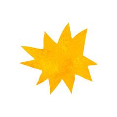 retro cartoon explosion symbol