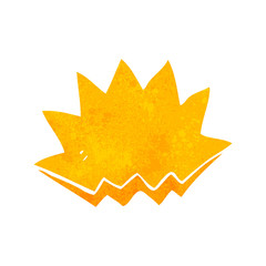 retro cartoon explosion decorative symbol