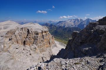 Marmolata - Marmolada mountain with glacier