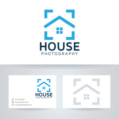 House photography vector logo with business card template