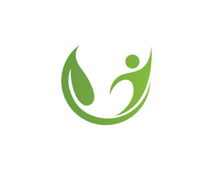Go green to health people logo