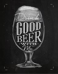 Poster good beer chalk