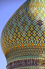 Iran - blaue Kuppel des Shah-Cheragh-Heiligtums in Shiraz