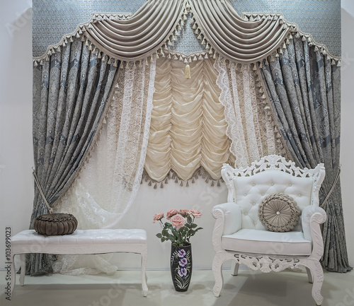 "Floral Gardinen Und Pelmet Am: ""Luxury Curtains With Floral Ornaments, Lace Curtains"