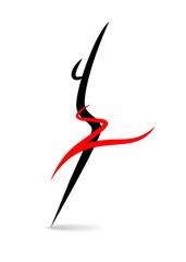 Stylized female silhouette