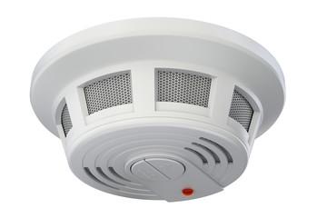 Smoke detector isolated on white background