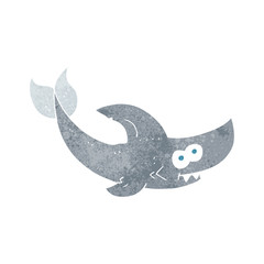 retro cartoon shark
