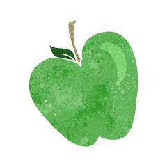retro cartoon apple