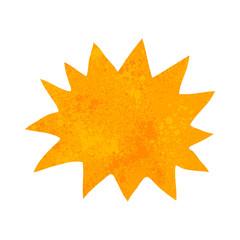 retro cartoon simple explosion symbol