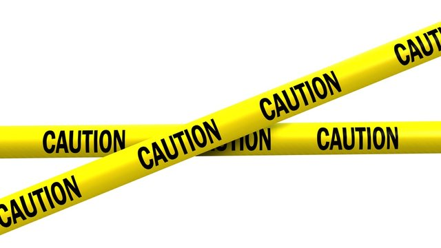 caution tape - isolated